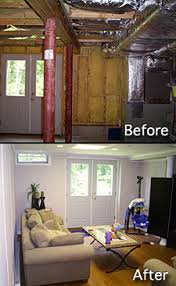 basement remodeling contractors. basement finishing before after photo remodeling contractors c