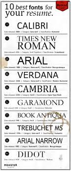 Resumese Font Type Types For Sample Format Best Formats Home Npr