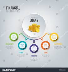 Financial Infographics Personal Loans Illustration Vector