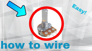 how to wire a potentiometer (step by step) youtube potentiometer wiring for motor dc at Wiring A Potentiometer For Motor
