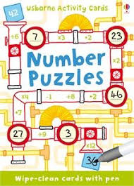 number puzzles a pack of wipe clean cards with puzzles and games that will put