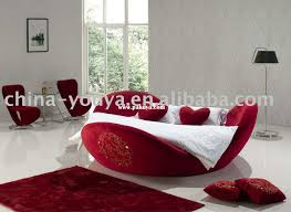 Round Beds Round Bed King Size Bed Top Grain Leather Headrest Round Soft Bed