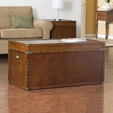 ... Brown Rectangle Lacquered Wood Vintage Trunk Coffee Table Designs To  Complete Your Living Room ...