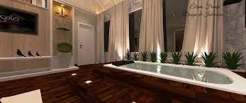 Projeto de suíte com closet entre o quarto e banheiro. Suite Com Suite Com Banheira De Hidromassagem E Plantas Elaine Franca 140462 Viva Decora