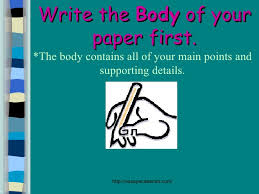 structure of term papers write the body of your paper