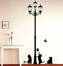 Small Picture Buy Decals Design Ancient Lamp and Cats Wall Sticker PVC Vinyl