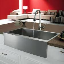 stainless steel farmhouse kitchen sink stainless steel kitchen sinks kraus 36 inch farmhouse double bowl stainless