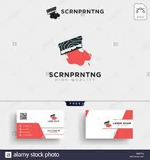 Logo Printing Design Traditional Screen Printing Logo Template Vector