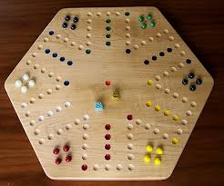 Wooden Aggravation Board Game Pattern
