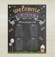 Baby Shower Seating Chart Sweet Shop Theme Digital By
