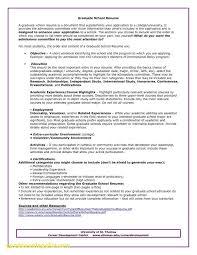 Graduate School Resume Template Resume Work Template