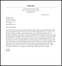 Application Cover Letter Sample For Free Kindergarten Application Letter Sample Preschool Teacher