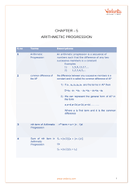 Cbse Class 10 Maths Chapter 5 Arithmetic Progressions Formula