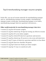 Top 8 merchandising manager resume samples In this file, you can ref resume  materials for ...