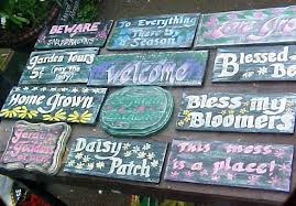 garden sign. Garden Signs Are Blooming Sign