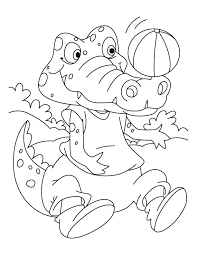 Small Picture Football lover Crocodile coloring pages Download Free Football