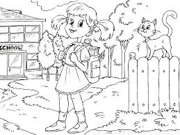 Bộ sưu tập tranh tô màu bé đi học đầy dễ thương, gần gũi