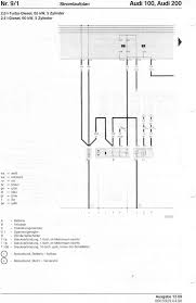 audi 100 200 factory wiring diagrams page 3