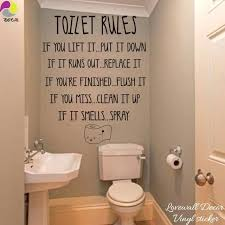 wall decals for bathroom toilet rules quote wall stickers bathroom removable decals home decor decal wall wall decals for bathroom