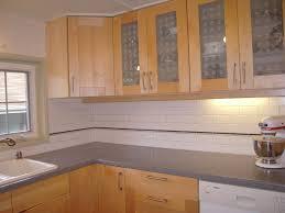 Pine Kitchen Cabinet Doors Kitchen With Subway Tile Backsplash And Oak Cabinets Google