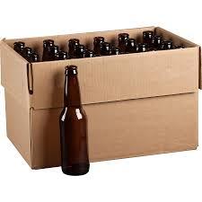 Amber Long Neck Beer Bottle, Pry-Off, 24/cs