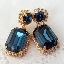 navy blue chandelier earrings drop earrings dangle earrings b