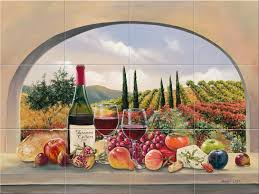 kitchen tiles with fruit design. inspiring kitchen wall mural for decorating design ideas : gorgeous decoration with wine garden tiles fruit i