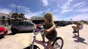 Girls on wheels, Parakia, Paros, Greece - YouTube