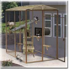 here s an outdoor cat condo cat cage