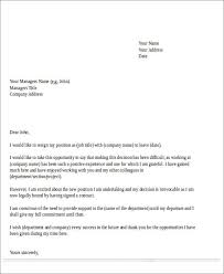 Letter Of Intent To Return To Work After Resignation Sample Temporary Resignation Letter 5 Examples In Pdf