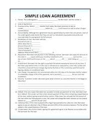 Agreement Template Free Enchanting Printable Sample Loan Contract Template Form Free Car Agreement