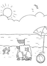 8d0a73617369c733a18ded710fb99737 free summer at the beach coloring page! on free printable watercolor beach