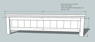 what size is a king bed ana white farmhouse king bed plans diy projects