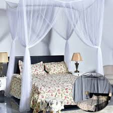 LARGE CANOPY MOSQUITO Bed Net Cover Polyester Fabric Queen King ...