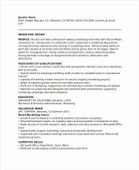 Modern Marketing Resume Marketing Intern Resume 20 Modern Marketing Resume Templates Pdf Doc