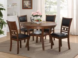 gia light brown round table with 4 chairs media image 10