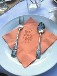 custom personalized napkins. personalized napkins for that simple touch to an outdoor wedding custom