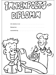 Kleurplaat Diploma Behaald