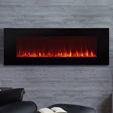long electric fireplace unique long electric wall fireplace wayfair
