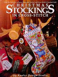 Cross Stitch Stocking Patterns Awesome Christmas Stockings In CrossStitch Purple Kitty