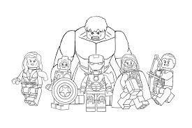 Lego Avengers Coloring Pictures Murderthestout