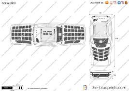 Nokia 6800 vector drawing