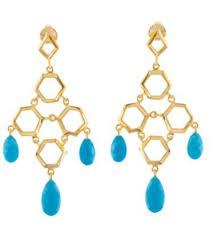 missoma turquoise chandelier earrings