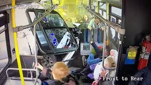 Unbelievable video shows passengers flying as truck crashes through ...