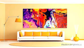 abstract painting portfolio canvas decor water trees large framed wall art printed blue rectangle artwork sofa