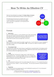 How To Write Effective Resume Kordurmoorddinerco Best Effective Resume