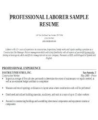 Ideas Collection Sample Resume For Construction Worker Best Resume