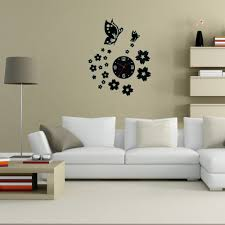 aliexpresscom buy 3d wall clocks unique butterfly and flowers design mirror face wall clock home office decoration needle diy wall clocks pi from aliexpresscom buy office decoration diy wall