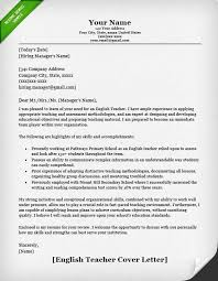 English Teacher Cover Letter Template Resume Genius With Regard To