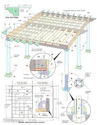 how to build a pergola diy plans attached house